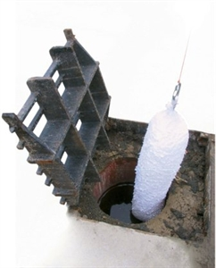 Drain Gully Oil Sock With Rings, Bagged