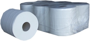 Paper Products White Centre Feed Hand Towels Rolls 2 Ply LS
